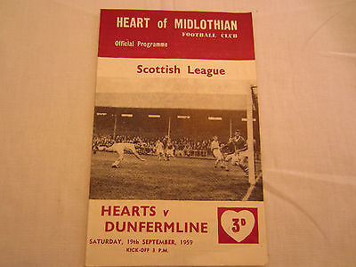 1959-60 SCOTTISH LEAGUE  HERTOF MIDLOTHIAN v DUNFERMLINE
