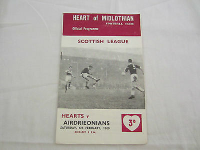 1959-60 SCOTTISH LEAGUE   HEARTOF MIDLOTHIAN v AIRDRIEONIANS