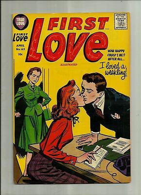 First Love Illustrated #63 1956 Harvey Silver Age Romance Comic Book Nice