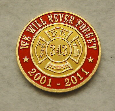 9-11 Anniversary Firefighter Memorial Coin Ver2 FDNY Firefighters EMT ParaMedic