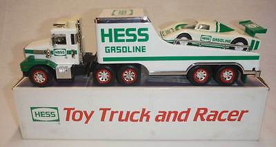Hess  TOY    TRUCK & RACER    Real Head & Tail lights     1988