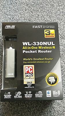 ASUS Pocket Router All-in-One Wireless N WL- 330NUL World's Smallest Router BNIB