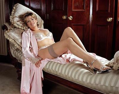 w6 Claire Goose in stockings A4 photo