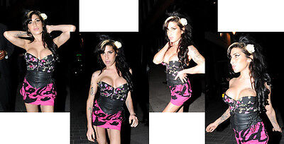 1c Amy Winehouse set #1 A5 8x6 inch approx glossy photos