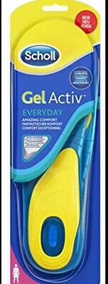 Scholl Active Everyday Gel Insoles For Men Size 8-13