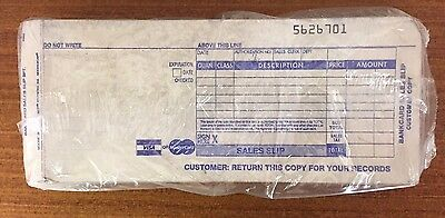Knuckle Buster Credit Card Slips 2 Part Set of 100 in Package