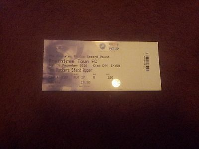 Milwall v Braintree FA Cup Match Ticket 16/17
