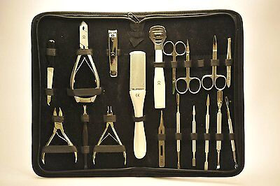 KIT Professionale Manicure Pedicure Set 21 Pezzi Custodia Idea Regalo estetista