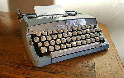 Vintage Brother Deluxe Typewriter, 1969 Great Retro Machine, Serviced