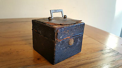 Victorian Travel Ink Pot / Bottle / Inkwell in Case