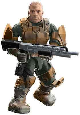 Mega Bloks Halo SERGEANT FORGE from Halo Heroes Series 2