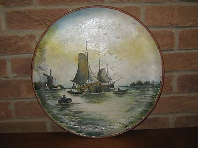 Rare Watcombe Torquay Hand Painted Pottery Charger Signed A Haswell 1921