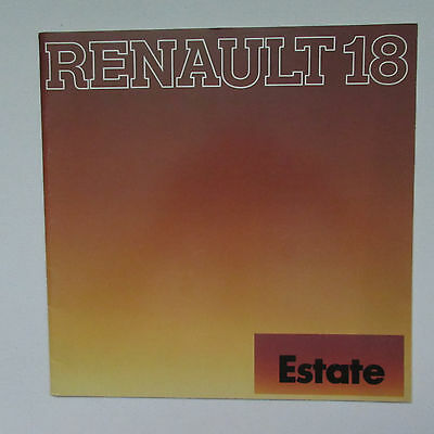 Renault 18TL and 18TS Estate Large Format Brochure