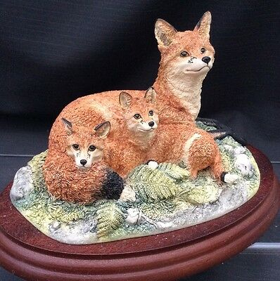 "Border Fine Arts Border Fox Family "" Family Portrait """