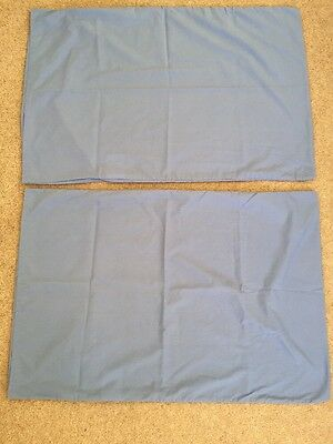 2 Cornflower Blue Pillowcases From Next Used As Spare Immaculate Condition