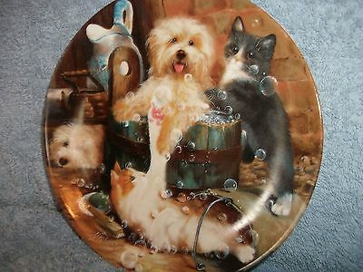 "8 "" Dog Plate...badefreuden By Bradford Exchange And With Certificate"