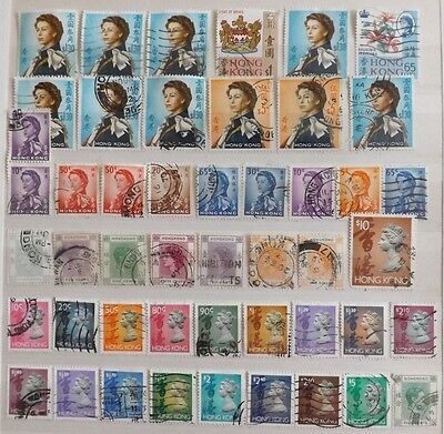 Hong Kong, QE11 mixture of used stamps