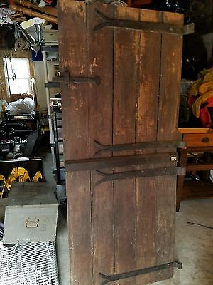 2 Piece Solid Wood Dutch Door Shabby Cottage Entryway GREAT SHAPE ALL ORIGINAL