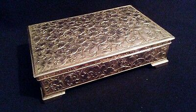 Highly Ornate Vintage Silver Plate Box