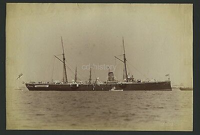 Large Photo Of Royal Navy Armed Cruiser c1886 By West Of Southsea