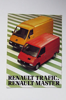 Renault Trafic and Master Vans Large Format Brochure - 1980 (French)