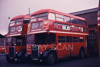 35mm Original London Transport bus slide RT's 805-2488 @ Enfield 27-4-1970