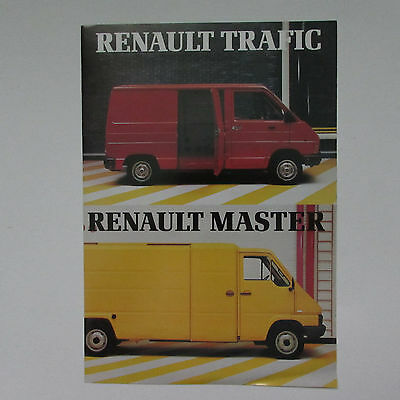 Renault Trafic and Master Vans Brochure