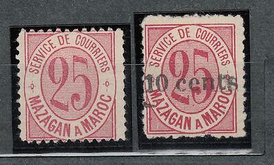 1891 Local Post Mazagan a Marakech Yv 44-45