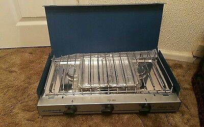 Campingaz Chef Stove 2 ring burner and grill