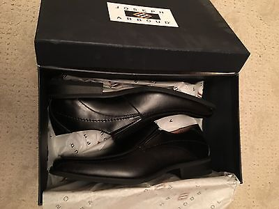 Joseph Abboud size 9 D Slip on Black leather Dress Loafers Shoes Squared Toe