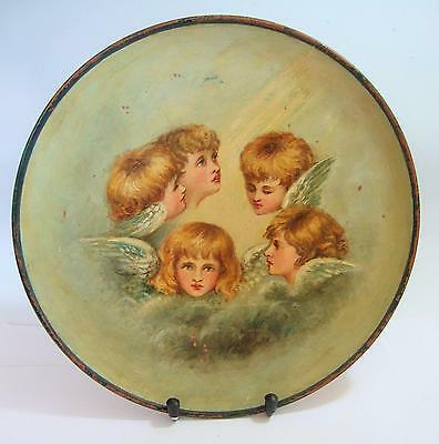 WATCOMBE TORQUAY POTTERY CHARGER c1871-1875 ~ HANDPAINTED REYNOLDS ANGELS