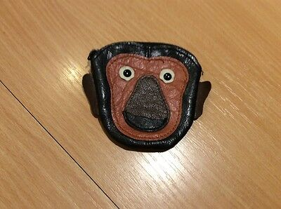 Childs Small Black And Brown Leather Monkey Purse