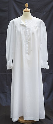 Vintage Antique White Cotton Nightdress