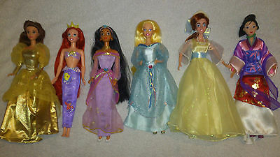 Barbie Disney Princess dolls - good condition, with accessories & fashions!LOOK!