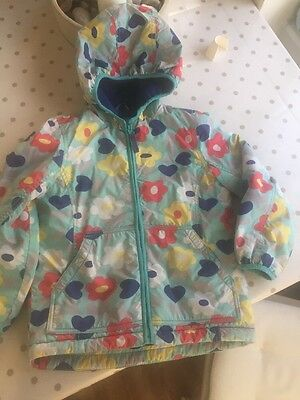Mini Boden girls warm fleece lined coat Jacket age 7-8 Years Shower Proof