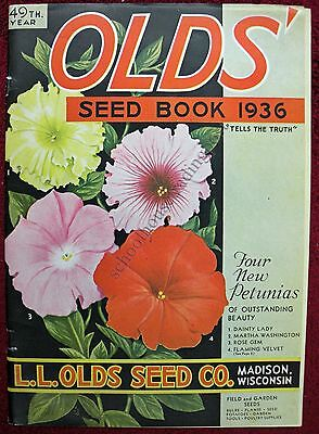 Illustrated Seed Catalog Olds Seed Co Book Madison Wisconsin 1936
