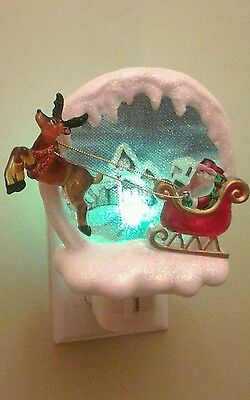 Santa Claus and Rudolph Christmas Nightlight A Magical Time
