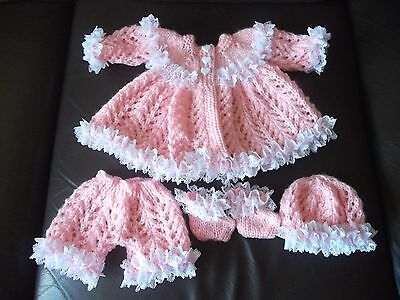 """Gorgeous Hand Knitted Set To Fit 15""""/16"""" Doll"""
