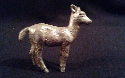 A Silver Tone Smelter Deer figure ornament