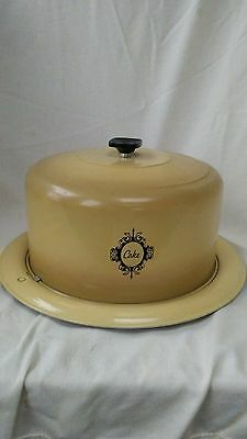 vintage cake humidor with lock-on cover