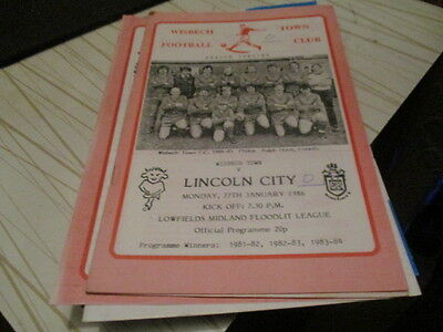 Wisbech  Town  V  Lincoln  City  1985-6  Floodlit  League