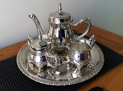 Adorable Vintage Children's 4 pc. Silver Plated Tea Set~Sheffield Silver Company