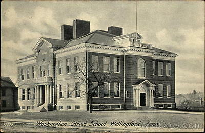 1905 Wallingford CT Washington Street School New Haven County Connecticut PC