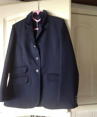 """Shires Navy Blue Show Jacket Size 26"""" Chest -Measures 29"""" New  £20.00"""