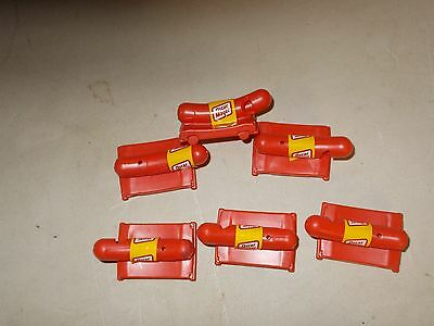 LOT OF 6 OSCAR MAYER WEINER MOBILE ADVERTISING WHISTLES vintage