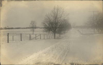 RPPC Rockford MI Snow Covered Road and Fields Kent County Michigan Azo