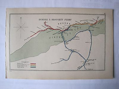 1910 RAILWAY CLEARING HOUSE Junction Diagram No.26 DUNDEE & BROUGHTY FERRY.