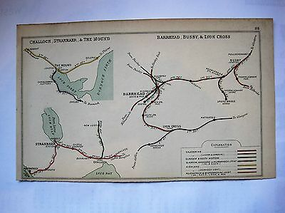 1907 RAILWAY CLEARING HOUSE Junction Diagrams THE MOUND,STRANRAER,BARRHEAD,BUSBY