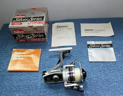 Daiwa 1300X Silver Series Fresh / Ultra Light Saltwater Spinning Fishing Reel