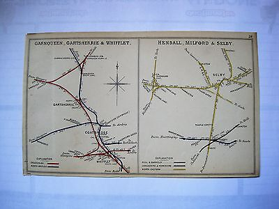 1910 RAILWAY CLEARING HOUSE Junction Diagrams.SELBY AREA.COATBRIDGE AREA.